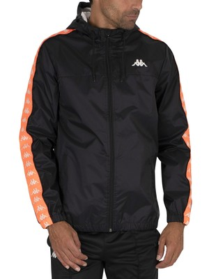 Kappa 222 Banda Dawson Jacket - Black/Neon Orange