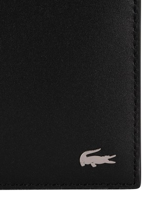 Lacoste Billfold Leather Coin Wallet - Black