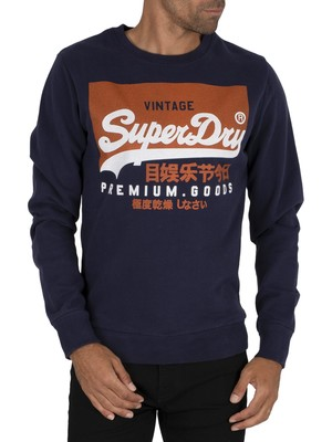 Superdry Graphic Sweatshirt - Nautical Navy