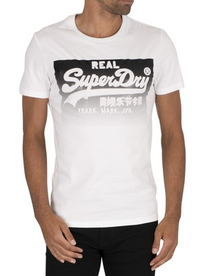 Superdry Halftone Emboss T-Shirt - Optic