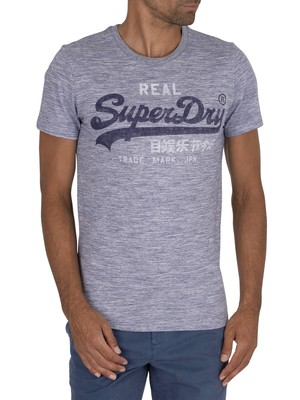 Superdry Premium Goods T-Shirt - Mist Blue Space Dye
