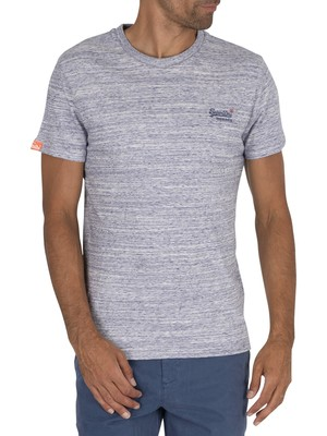 Superdry Vintage Embroidery T-Shirt - Mist Space Dye