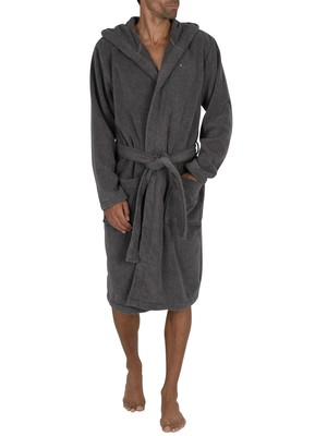 Tommy Hilfiger Hooded Icon Bathrobe - Magnet