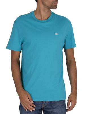 Tommy Jeans Classic Logo T-Shirt - Exotic Teal