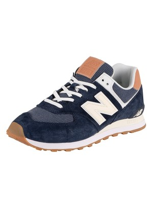 New Balance ML574 Trainers - Blue/Cream