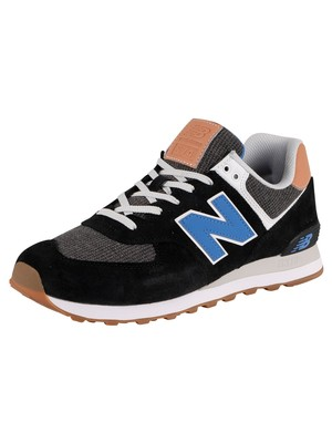 New Balance ML574 Trainers - Black/Blue