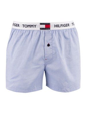 Tommy Hilfiger Branded Waistband Woven Boxers - Cornflower Blue