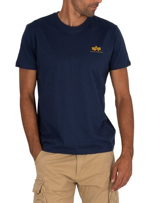 Alpha Industries Basic Small Logo T-Shirt - New Navy