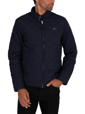 GANT Quilted Windcheater Jacket - Evening Blue