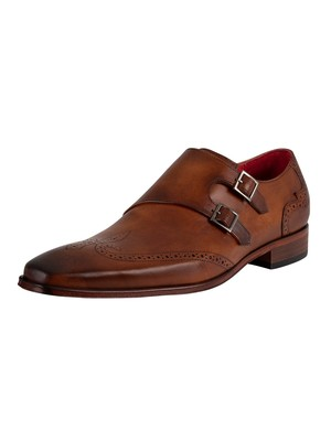 Jeffery West Monk Leather Shoes - Castano