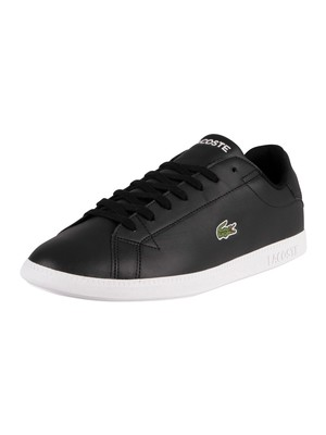 Lacoste Graduate BL 1 SMA Leather Trainers - Black/White