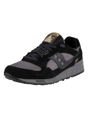 Saucony Shadow 5000 Suede Trainers - Black