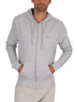 Tommy Hilfiger Lounge Zip Hoodie - Light Grey Heather