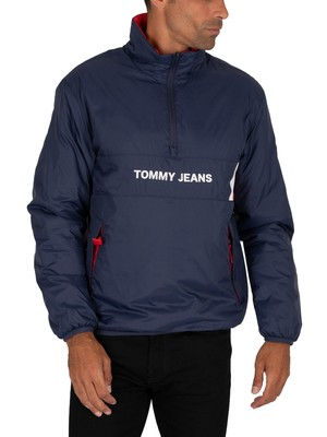 Tommy Jeans Reversible Popover Jacket - Twilight Navy