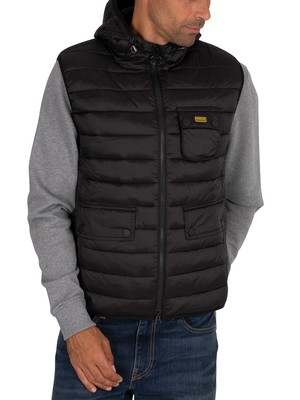 Barbour International International Ouston Hooded Gilet - Black