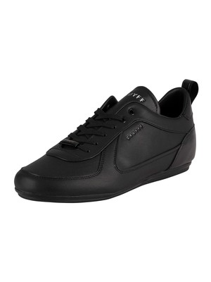 Cruyff Nite Crawler V2 Leather Trainers - Black