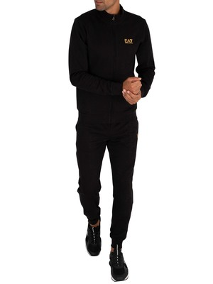 EA7 Chest Logo Tracksuit - Black