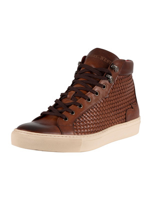 Jeffery West Woven Leather Boots - Castano