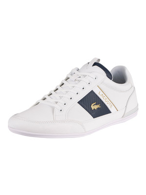 Lacoste Chaymon 0120 1 CMA Leather Trainers - White/White