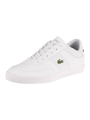Lacoste Court Master 0120 1 CMA Leather Trainers - White/White