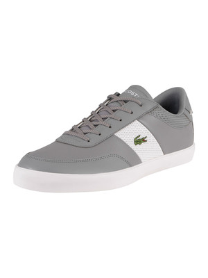 Lacoste Court Master 0120 1 CMA Leather Trainers - Grey/White