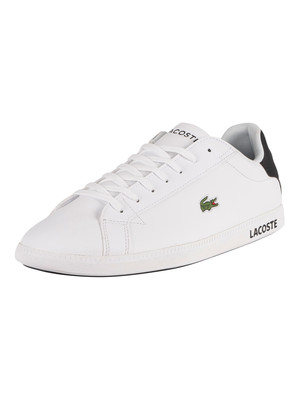 Lacoste Graduate 0120 2 SMA Leather Trainers - White/Black