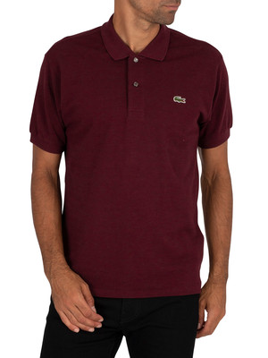 Lacoste Logo Polo Shirt - Burgundy