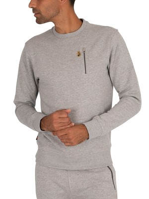 Luke 1977 Paris 2 Sweatshirt - Mid Marl Grey