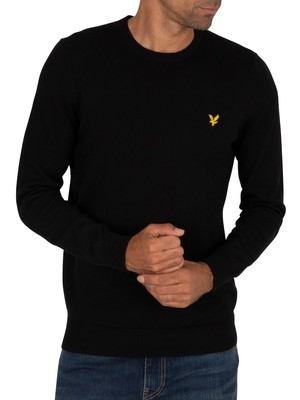 Lyle & Scott Cotton Merino Crew Jumper - Jet Black