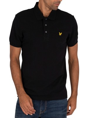 Lyle & Scott Logo Polo Shirt - Jet Black
