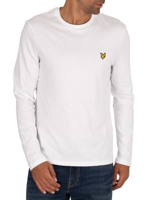 Lyle & Scott Longsleeved Crew T-Shirt - White