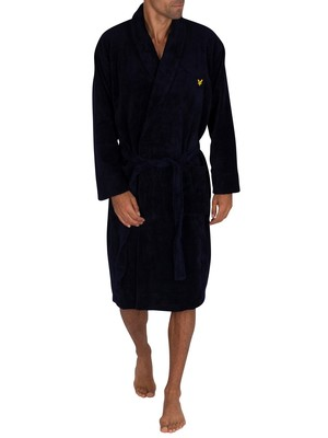 Lyle & Scott Lucas Towelling Robe - Navy