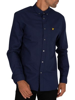 Lyle & Scott Oxford Chest Pocket Shirt - Navy