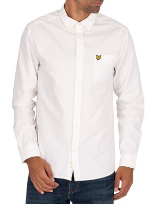 Lyle & Scott Oxford Chest Pocket Shirt - White