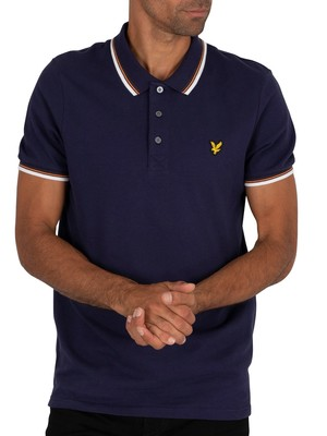 Lyle & Scott Tipped Polo Shirt - Navy/White