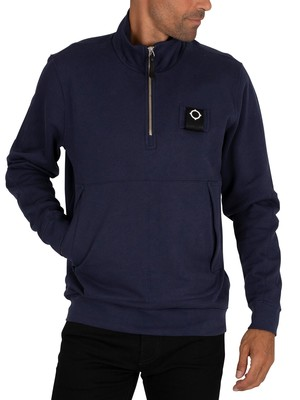MA.STRUM Training Quarter Zip Sweatshirt - True Navy
