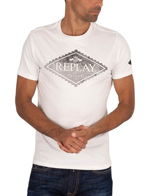Replay Graphic T-Shirt - White