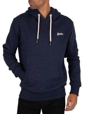 Superdry Classic Pullover Hoodie - Midnight Blue Grit