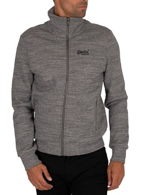 Superdry Classic Zip Track Top - Stone Grey Feeder