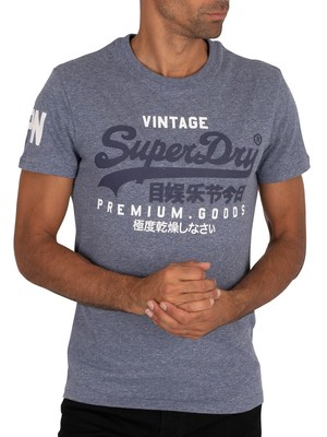 Superdry Graphic T-Shirt - Tois Blue Heather