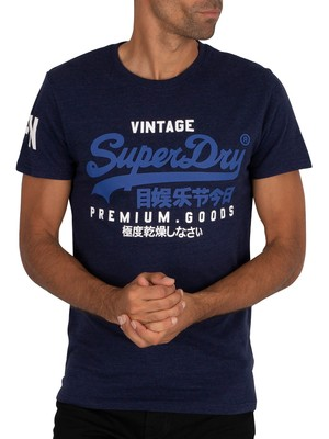 Superdry Graphic T-Shirt - Midnight Blue Grit