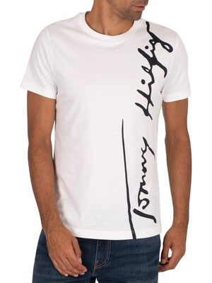 Tommy Hilfiger Cool Large Signature T-Shirt - White