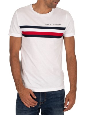 Tommy Hilfiger Global Stripe T-Shirt - White