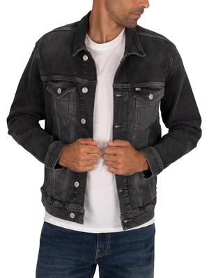 Tommy Jeans Regular Trucker Jacket - Save Grey Comfort