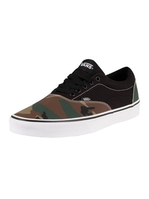 Vans Doheny Mixed Camo Canvas Trainers - Black/White