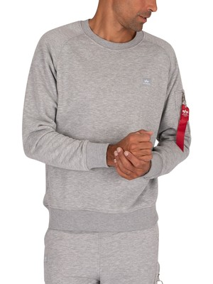 Alpha Industries X-Fit Sweatshirt - Grey Heather