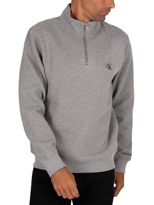 Calvin Klein Jeans Essential Mock Sweatshirt - Mid Grey Heather
