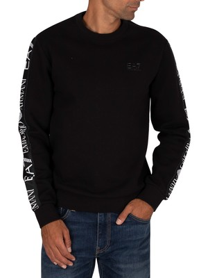EA7 Sleeve Logo Sweatshirt - Black