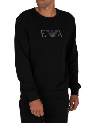 Emporio Armani Lounge Graphic Sweatshirt - Black
