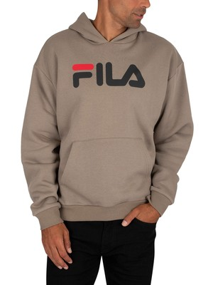 Fila Axelo Classic Logo Pullover Hoodie - Vetiver/Black/Red